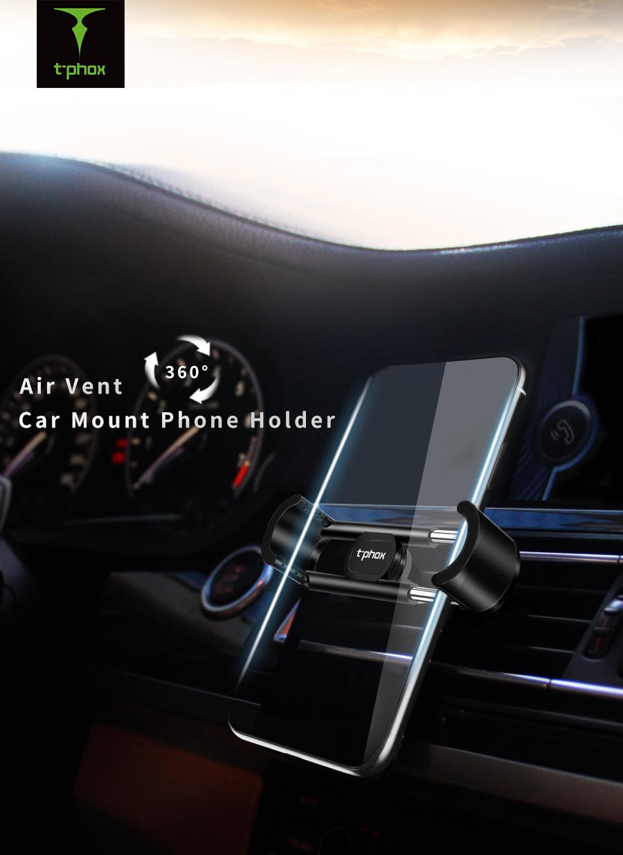 T Phox Air Vent Car Mount Phone Holder 360 Rotation Ventilation T360 Stocklot