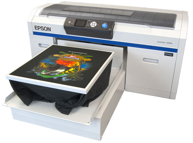 Epson surecolor f2000 for Apple shirt screen printing