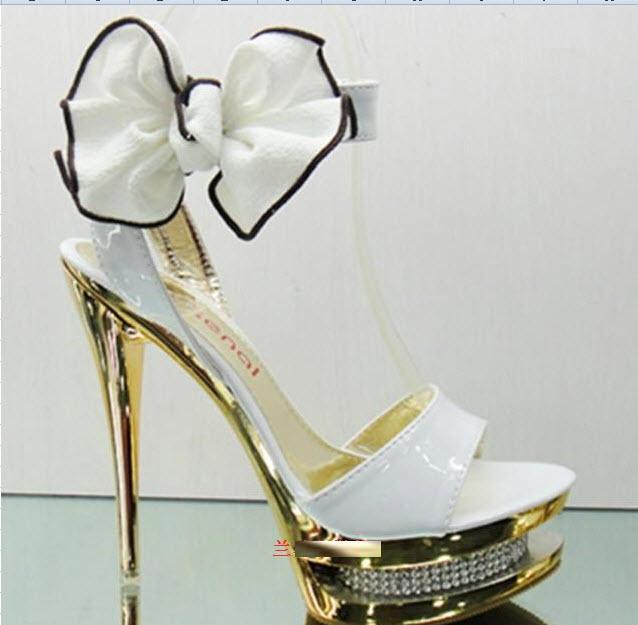 Туфли свадебные на высоком каблуке