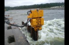 stocklot - Used vibro hammer PVE 2312 VM to work on a crane or piling rig