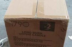 stocklot - 120000pcs of glass filled with wax (candle) stocklot