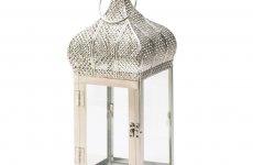 stocklot - Silver Moroccan Dome Lantern