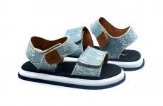 stocklot - Atlantis Shoes Kids Baby Unisex Cowboy Sandals Denim Light Blue