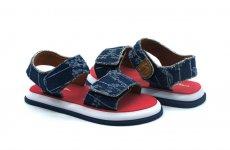 TradeGuide24.com - Atlantis Shoes Kids Unisex Cowboy Sandals Denim Blue Red