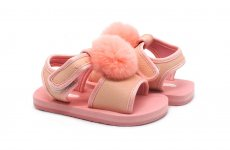 TradeGuide24.com - Atlantis Shoes Kids Faux Fur Fluffy Baby Pink Sandals