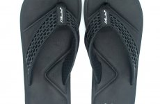 TradeGuide24.com - Atlantis Shoes Men Simply Colorful Black Sandals Flip Flops