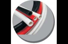 stocklot - Silicone rubber fiberglass sleeving(inside rubber outside fiber)