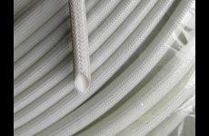stocklot - Silicone rubber fiberglass sleeving(inside rubber outside fiber)