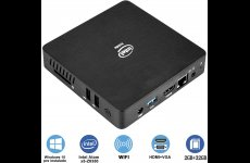 stocklot - Fanless Mini PC,Intel x5-Z8350 HD Graphics Mini Computer,Windows 10 64-bit,DDR3L 2GB/32GB eMMC/4K/2.