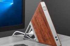stocklot - Triangle Mini PC, Portable Windows 10 Pro Micro Desktop Computer, Intel Apollo Lake Celeron N3450 Qu