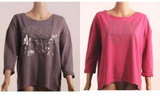 stocklot - DKNY 3-4 sleeve french terry top 24pcs. 12DTD5-6