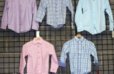 stocklot - Calvin Klein and Izod boys 8-20 long sleeve woven shirts 24pcs.BCKIZWS