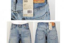 stocklot - Levis 569 Loose fit mens shorts assortment 24pcs.Levis 569