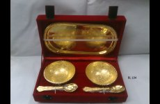 stocklot - Gold Plated Bowl Set