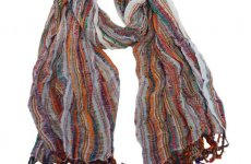 stocklot - Multicoloured scarves with lurex and fringes