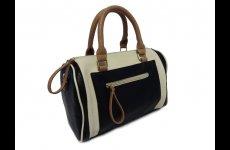 stocklot - Trendy black beige handbags with front pocket