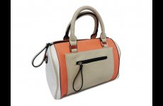 stocklot - Trendy pink beige handbags with front pocket