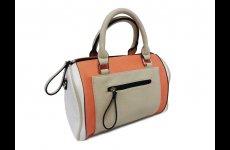 stocklot - Trendy pink beige handbags with front pocket