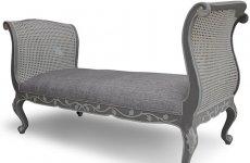 stocklot - MAHOGANY/Rattan Linen  Shila Bench