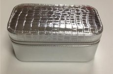 stocklot - Sliver Mirrored Cosmetic Cases
