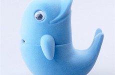 stocklot - Dolphin Shaped Velvet Ring Box