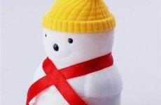 stocklot - Christmas Snowman Velvet Ring Box