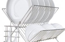 stocklot - Stainless Steel Kitchen Dish Rack