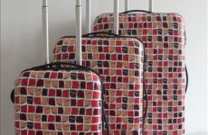 stocklot - Printed Abs Travel Luggage