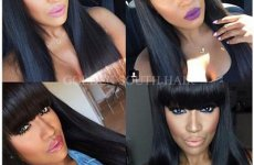 stocklot - Glueless Lace Front Wigs With Bangs