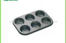 TradeGuide24.com - Non-Stick Carbon Steel 6 Cups Muffin Pan
