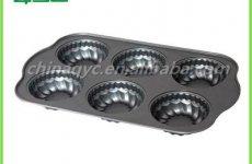 TradeGuide24.com - Non-Stick Carbon Steel 6 Hole Flower Shape Muffin Baking Tin