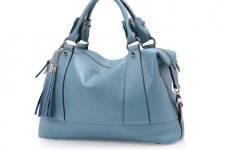 stocklot - Womens Satchel Pebbled Leather Swagger Carryall Purse Handbag