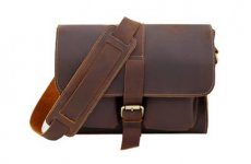 stocklot - Mens Satchel Vintage Leather Messenger Bag