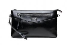 stocklot - Ladies Genuine Leather Clutch Bag With Black Color