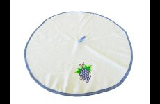 stocklot - Round Kitchen Towels with embroidery