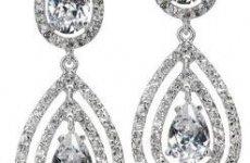 TradeGuide24.com - Double Tear Drop Cubic Zirconian Dangle Earrings