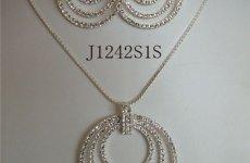 TradeGuide24.com - Vintage Rhinestone Jewelry Necklace Sets Circle Necklace Set