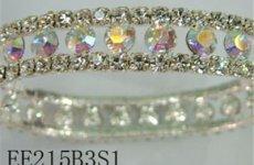 stocklot - Bling Clear Crystal W/ Crystal AB Rhinestone Stretch Bracelet Wedding Bridal Wrist
