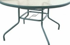 stocklot - Glass Round Dining Table