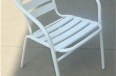stocklot - Promotional Metal Steel Arm Chair With Aluminum Slats