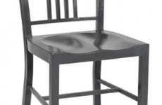 stocklot - Hot Sale Navy Metal Dining Chair