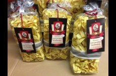 stocklot - Pasta Echte gewaltzte Bandnudeln 500 g (Durum wheat pasta with added 5 eggs/1 kg)