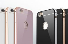 stocklot - Iphone 6 S Aluminum Frame Plastic Tempered Glass Back Cover Push And Pull Phone Case