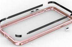stocklot - Iphone 6 S Plus Aluminum Frame Tempered Glass Back Cover Lock Button Phone Case