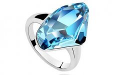 stocklot - Luxury Personalized Jewelry Rings Jewelry Manufacturers Selling Wholesale Genuine Blue Austrian Crys