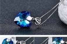 stocklot - Latest Fashion Design Heart Crystal Choker Necklace Jewelry Gold Pendant Design With Chain Wholesale