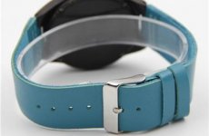 stocklot - Blue Leather Strap Ebony Watch For Man And Woman