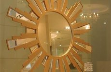 stocklot - Creative European Style Make-up And Dressing Table Round And Rectangle Princess Beauty Mirror