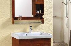 stocklot - Marble Bathroom Cabinet Cabinet Washbasin Wash Sink Cabinet Style Hanging Solid Wood Bathroom Cabine