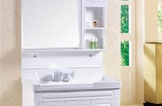 stocklot - Simple Bathroom Wash Rinse PVC Toilet Hanging Bathroom Cabinet Combination